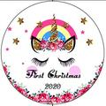 Popeven First Christmas Ornament 2020 Baby Girl Boy First Christmas Ornament Gift for Baby (First Christmas)