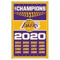 """Trends International NBA Los Angeles Lakers - Champions 20 Wall Poster 16.5"""" x 24.25"""" x .75"""" White Framed Version"""