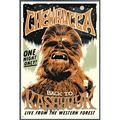 """Star Wars - Framed Movie Poster (Chewbacca The Wookie - Retro / Vintage Style) (Size: 25"""" X 37"""") (Orbit Blue Aluminum Frame)"""