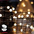 LED Globe Fairy Lights, Outdoor Party Lighting, Warm White Ball Fairy Lights, Ideal Christmas Lighting for Indoor Use, Rooms