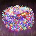 Outdoor Christmas Lights Multicolored, 165 Feet/300 LED Super Long String Lights for Patio, Garden, Christmas, Party, Wedding, Bedroom, Indoor Decoration(Multi-Color,8 Lighting Modes)