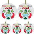 Popeven Stink Stank Stunk Ornament, 2020 Christmas Ornament, Quarantine Ornament, Christmas Tree Hanging Ornament Decorations, 2020 Keepsake Creative Xmas Gift for Family Friends 5pcs