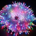 Led String Lights Fairy String Lights Fairy Lights 8 Modes 200 Led 66Ft String Lights Transparent Wire Waterproof Romantic Lights Christmas Decor Christmas Lights?Multi-Color?
