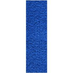 """Commercial Indoor/Outdoor Blue Custom Size Runner 2'6"""" x10' - Area Rug with Rubber Marine Backing for Patio, Porch, Deck, Boat, Basement or Garage with Premium Bound Polyester Edges"""