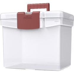 Storex file box with XL lid, burnt sienna