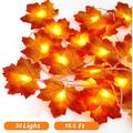 5M LED Maple Leaf String Lights with 50 LED, Battery Operated, Indoor Outdoor Fairy Lights, Fall Garland String Lights Decorative Lights for Home Patio Party Thanksgiving Christmas