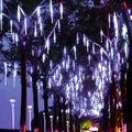 Mavis Laven Holiday Light Tubes,30cm/50cm Waterproof SMD2835 LED String Lights 8 Tube Christmas Holiday Outdoor Decor US Plug 110‑240V,Light Tubes Decor