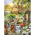 Winnereco 5D DIY Full Drill Diamond Painting Sunshine Garden Cross Stitch Embroidery