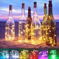 Wine Bottle Lights with Cork - Silver Wire Cork Lights for Bottle 6.5ft 20 LED Bottle Lights Battery Powered Christmas String Lights for Party Halloween Wedding Christmas