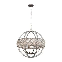 Cuckoo Hall - 6 Light Pendant in Modern/Contemporary Style - 24 Inches tall and 23 inches wide