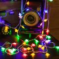 GLiving Star Snowflake Lights Star LED Lights Fairy Lights USB Operated String Lights for Bedroom Star Lights for Patio Summer Night Outdoor Decor Teepee Lights for Tent