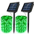 AMERTEER Solar String Lights, 66 ft 200 LED Solar Fairy Lights, 8 Modes Outdoor Solar Fairy Lights String with Memory, Waterproof Solar Twinkle Lights for Christmas Garden Party