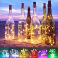 BIG SAVE!1Pcs LED String Light Solar Powered 20 LEDs Wine Bottle Lights with Cork Fairy String Light for DIY Party Halloween Christmas Wedding Decoration