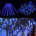 EIMELI Falling Rain Lights Certified Meteor Shower Lights,10 Tube 360 LEDs Rain Drop Lights Snow Falling Lights Cascading Icicle String Lights for Christmas Halloween Tree Garden Outdoor,Blue
