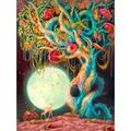 Chinatera 5D Full Round Drill Mosaic Picture DIY Novelty Tree Diamond Painting Poster