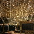 Wchiuoe Curtain String Light, LED Net Light,8 Modes 3x2M 210 LED Fairy Net Light Mesh Curtain String Wedding Christmas Party Decor US