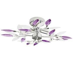 Onever Modern Simple Crystal Ceiling Lamp Leaf Chandelier Droplight For Living Room Bedroom Restaurant