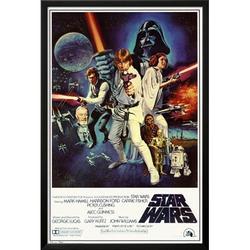 Star Wars - Episode IV New Hope - Classic Movie Poster Lamina Framed