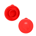 Brio Dew Cap Crown Top Replacement Cap - 4 Pack - 55mm Snap On Cap for Crown Top Lids for 3 & 5 Gallon Water Bottles (Red)