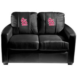 St. Louis Cardinals MLB Silver Love Seat with Secondary Logo Panel