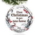 Popeven Two-Side Printed 2020 Ornament Our First Christmas As Mr Mrs First Christmas in Our New Home Engaged Ornaments 2020 Quarantine Ornament Christmas Ornament Gift