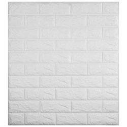 VOVER 3D Foam Wall Panels 22 Pack 3D Brick Wall Panel 27.5x30.5 Inches PE Foam Wallpaper 126Sqft White Brick Wallpaper 3D self Adhesive Wall Panels for Bathroom Kitchen Living Room Home Decoration