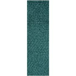 Commercial Indoor/Outdoor Teal Custom Size Runner 2' x 18' - Area Rug with Rubber Marine Backing for Patio, Porch, Deck, Boat, Basement or Garage with Premium Bound Polyester Edges