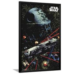 STAR WARS - SPACE BATTLE Lamina Framed Poster Wall Art - 24x36