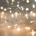 XINKAITE String Lights, Waterproof LED String Lights, Fairy String Lights Starry String Lights for Indoor& Outdoor DIY Decoration Home Parties Christmas Holiday (10FT/3Meters, Blue)