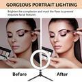Patgoal Selfie Light Ring/ LED Ring Light/ Ring Light for Phone/ Ring Light Mirror/ Phone Ring Light/ Ring Light for Iphone/ Light Ring with Stand/desktop Ring Lamp Beauty Selfie Live Light