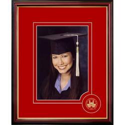 Campus Images MO997CSPF 5 x 7 in. Washington University in St. Louis Graduate Portrait Satin Mahogany Frame