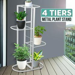 4 Tier 5 Potted Plant Stand Multiple Flower Pot Holder Shelves Planter Rack Storage Organizer Display for Indoor Garden Balcony