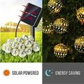 5/7M LED Outdoor Solar Patio Lights Fairy Lights Moroccan Ball Solar Christmas Lighting for Outdoor Decorative Lighting Colourful Lamp
