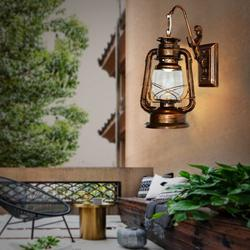 Old Fashion Retro Barn Lantern Wall Lamp Hotel Corridor Aisle Light Engineering Wall Lamp Wall Sconce in Industrial Style Vintage Style and European Style with Antique Glass