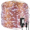 Led String Christmas Lights 99ft 300 LEDs Fairy String Lights for Bedroom, Patio, Indoor/Outdoor Completely Waterproof Copper Lights for Birthday, Wedding, Party Starry Lights UL Listed Cool Whit