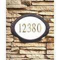 Floral Address Plaque
