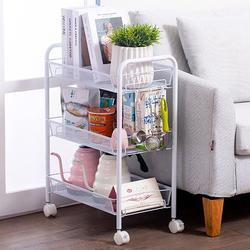 3/4/5-Tier Rolling Utility Cart Movable Storage Organizer Shelves with Wheels,Multifunctional Service Cart for Kitchen, Office, Coffee Bar,White Rolling Metal Storage Organizer Mobile Utility Cart