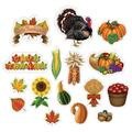 Pack of 192 Orange and Green with Printed 2 Sides Thanksgiving Cutouts
