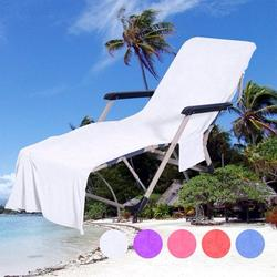 Famure Towel blanket Leisure Chair Beach Towel Microfiber Swimming Pool Lounge Chair Cover with Pocket Quick Drying Recliner Beach Towel