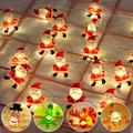 LED String Lights, 6.5FT 20LED Christmas String Lights Indoor/Outdoor Waterproof Decorative Light, Battery Powered Starry Fairy String Lights for Bedroom, Garden, Christmas Tree, Wedding Decoration