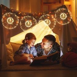 ROBOT-GXG Christmas String Lights - Led Christmas Hanging Lights - Fairy Firework String Lights - 120 LED Firework String Lights Led Copper Wire Starburst String Lights Christmas Hanging Lights