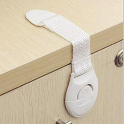 Adjustable Refrigerator Door Lock Non-drilled refrigerator door lock white window stopper with Keys Window Lock Drawer Lock Freezer Door Lock Fridge Lock Baby Kid Safety Cabinet Lock