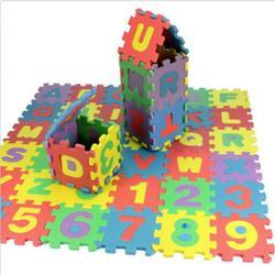 Jeobest MINI Baby Puzzle Mat - Baby Foam Play Mat - Foam Puzzle Play Mat - 36PCS Mini Alphabet Number Baby Puzzle Pad Floor Mat Baby Play Mat Puzzle Eva Foam Floor Mat Home Decoration MZ