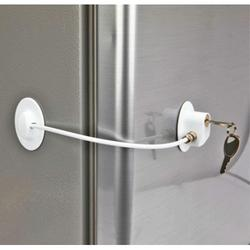 Refrigerator Lock, Fridge Lock with Keys, Freezer Lock and Child Safety Cabinet Lock with Strong Adhesive