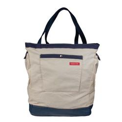 Beachy Diaper Bag and Backpack, Sand (Beige) and Navy
