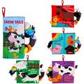 beiens Soft Baby Cloth Books, Touch and Feel Crinkle Books, for Babies, Infants & Toddler Early Development Interactive Stroller Toys, Baby Girl & Baby Boy Gift (Farm Tails-1 Book)