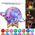 Special Touchable Moon Lamp Kids Night Light, Galaxy Lamp 4.7inch 16Colors LED 3D Star Moon Light Ball with Wood Stand, Remote & Touch Control USB Rechargeable Gift for Baby Girls Boys Birthday