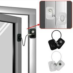 Willstar 2Pcs Refrigerator Door Lock with Keys Window Drawer Lock Freezer Door Lock Fridge Lock Baby Kid Child Safety Cabinet Lock 3M Strong Glue Adhesive (Black)
