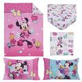 Disney Minnie Mouse Happy Hearts Pink 4 Piece Toddler Bed Set