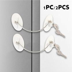 1/2 Pack Refrigerator Door Lock with Keys Window Lock Drawer Lock Freezer Door Lock Fridge Lock Baby Kid Safety Cabinet Lock